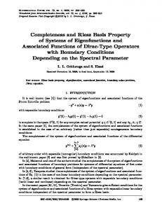 Completeness and Riesz basis property of systems of ... - Springer Link
