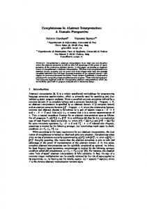 Completeness in Abstract Interpretation: A Domain ... - CiteSeerX