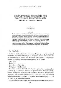Completeness theorems for continuous functions and ... - Springer Link