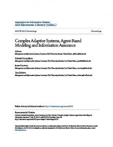 Complex Adaptive Systems, Agent-Based Modeling and ... - CiteSeerX