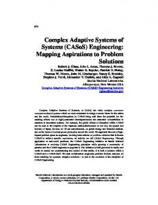 Complex Adaptive Systems of Systems - New England Complex ...
