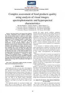 Complex assessment of food products quality using analysis of visual ...