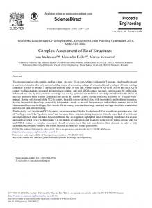 Complex Assessment of Roof Structures - ScienceDirect