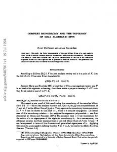 Complex monodromy and the topology of real algebraic sets