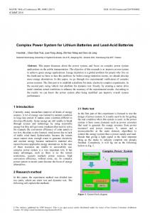 Complex Power System for Lithium Batteries and Lead-Acid Batteries