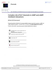 Complex role of Kv7 channels in cGMP and cAMP ...