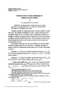 complex space forms - American Mathematical Society