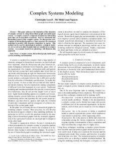 Complex Systems Modeling - CiteSeerX