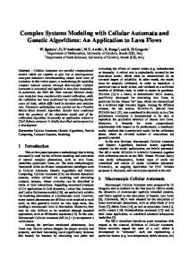 Complex Systems Modeling with Cellular ... - Semantic Scholar
