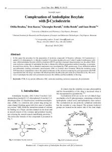 Complexation of Amlodipine Besylate with