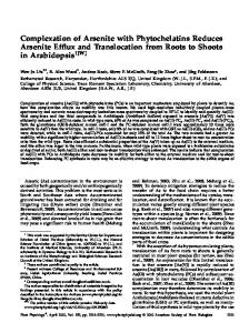 Complexation of Arsenite with Phytochelatins ... - Plant Physiology