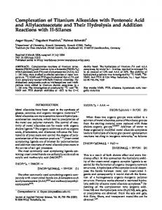 Complexation of titanium alkoxides with pentenoic acid and