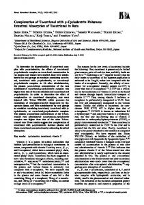 Complexation of Tocotrienol with \gamma-Cyclodextrin ... - J-Stage