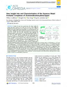 Complexes of - ACS Publications - American Chemical Society
