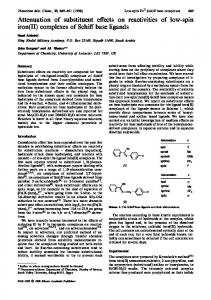 complexes of Schiff base ligands - Springer Link