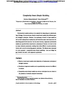 Complexity-Aware Simple Modeling - bioRxiv