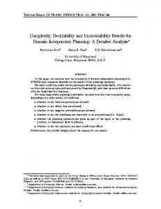 Complexity, Decidability and Undecidability Results for Domain