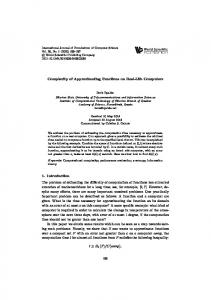 Complexity of Approximating Functions on Real-Life ... - Boris Ryabko