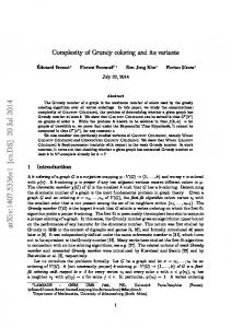 Complexity of Grundy coloring and its variants