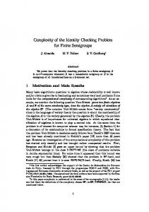 Complexity of the Identity Checking Problem for ... - Semantic Scholar