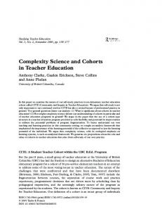 Complexity Science and Cohorts in Teacher ... - Semantic Scholar