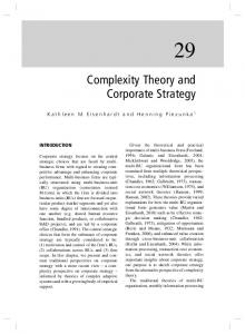Complexity Theory and Corporate Strategy - Semantic Scholar