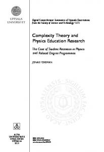 Complexity Theory and Education Research Physics - DiVA