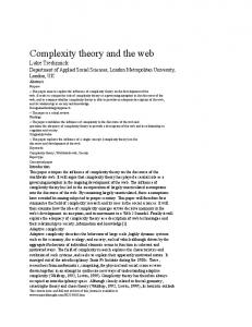 Complexity theory and the web - Semantic Scholar