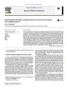 Complexity theory, contrarian case analysis, and ...