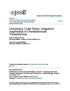 Complexity Under Stress: Integrative Approaches ... - Scholar Commons