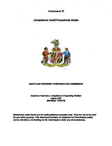 Compliance Audit Procedures Guide (Attachment H)