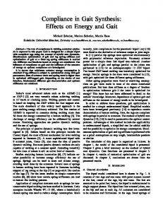 Compliance in Gait Synthesis: Effects on Energy and Gait - CiteSeerX