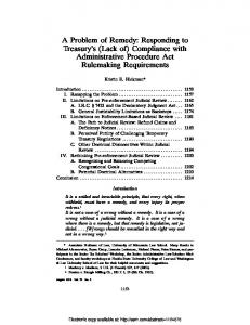 Compliance with Administrative Procedure Act ... - SSRN papers