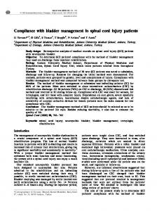 Compliance with bladder management in spinal cord injury ... - Nature