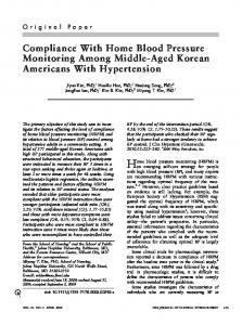 Compliance With Home Blood Pressure ... - Wiley Online Library