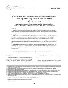 Compliance with inhaled corticosteroid treatment
