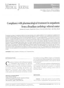 Compliance with pharmacological treatment in