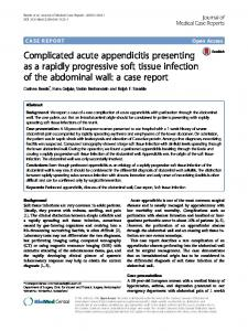 Complicated acute appendicitis presenting as a ...
