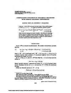 COMPLICATED DYNAMICS OF PARABOLIC EQUATIONS WITH