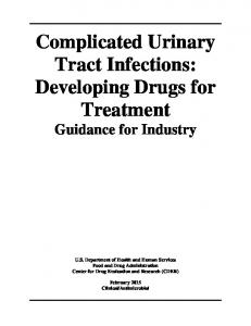 Complicated Urinary Tract Infections: Developing Drugs for Treatment