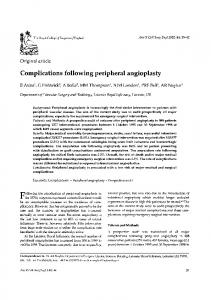 Complications following peripheral angioplasty.