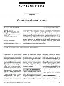 Complications of cataract surgery - Wiley Online Library