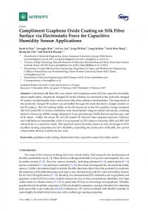 Compliment Graphene Oxide Coating on Silk Fiber ... - Semantic Scholar