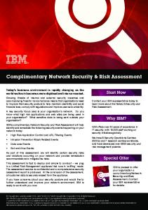 Complimentary Network Security & Risk Assessment - IBM