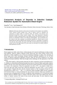 Component Analysis of Deposits in Selective Catalytic Reduction ...