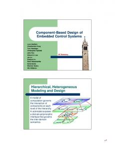 Component-Based Design of Embedded Control Systems ...