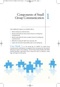 Components of Small Group Communication - Sage Publications