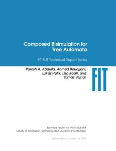 Composed Bisimulation for Tree Automata - VUT FIT