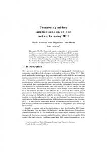 Composing ad-hoc applications on ad-hoc networks ... - Research Portal