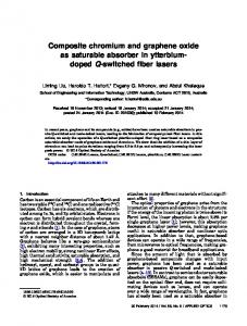 Composite chromium and graphene oxide as ... - OSA Publishing